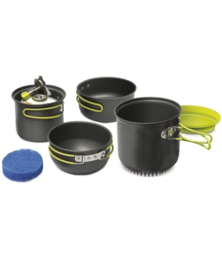 Alu Camping Geschirr-Set PINGUIN Double X