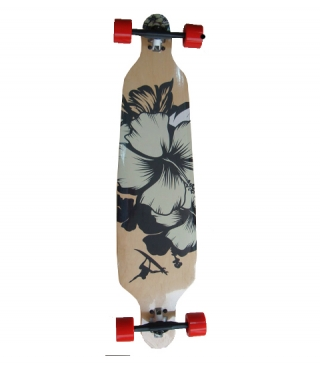 Longboard SPARTAN DROP SHAPE SURF BLACK