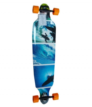 Longboard SPARTAN DROP SHAPE  SURF BLUE